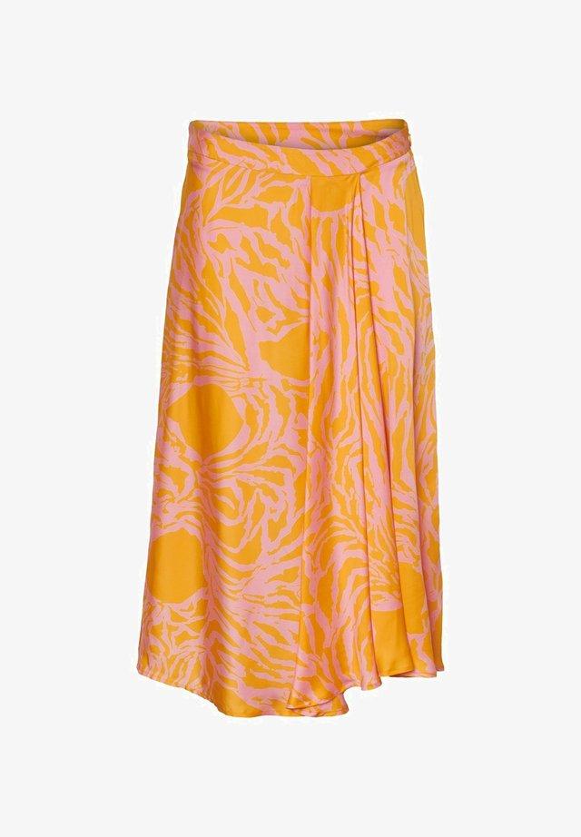 A-line skirt - saffron