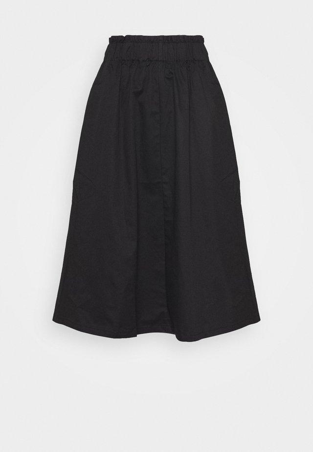VMJULIE CALF SKIRT - Áčková sukně - black