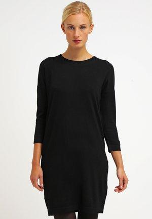 VMGLORY 3/4 VIPE AURA DRESS - Pletené šaty - black