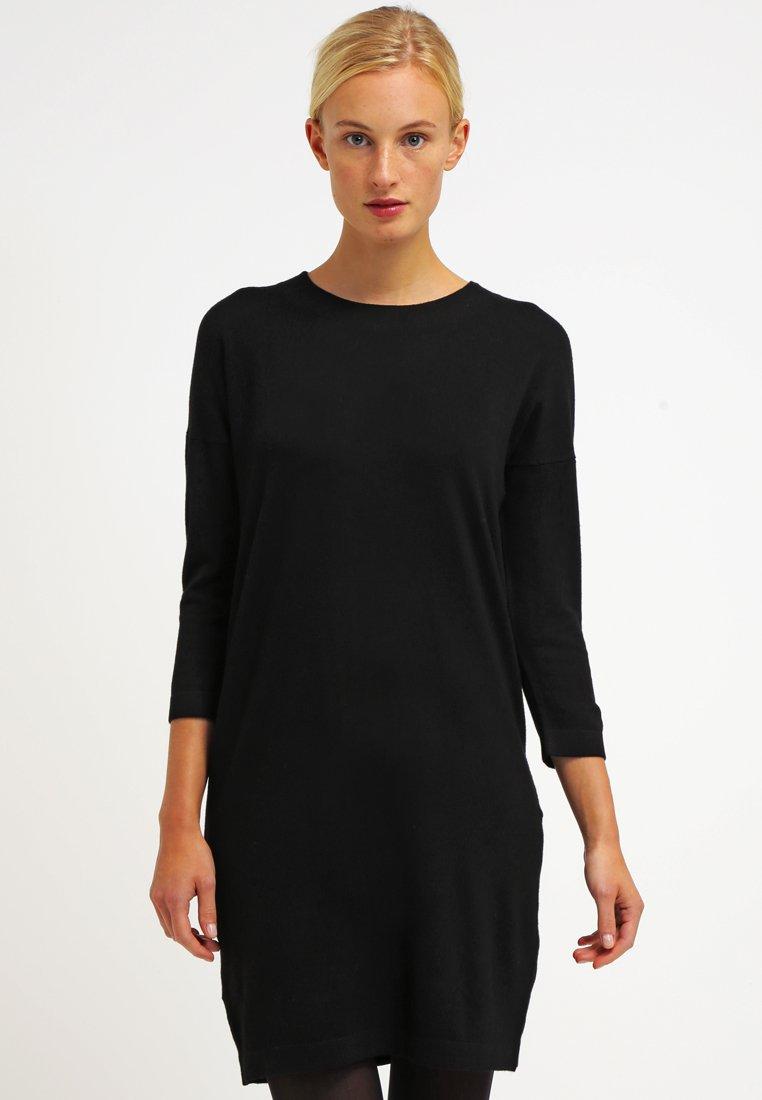 Vero Moda - VMGLORY 3/4 VIPE AURA DRESS - Stickad klänning - black