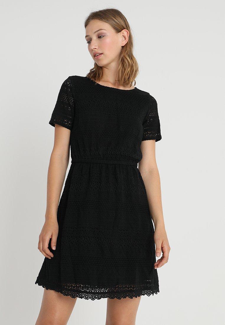 Vero Moda - VMHONEY SHORT DRESS  - Day dress - black