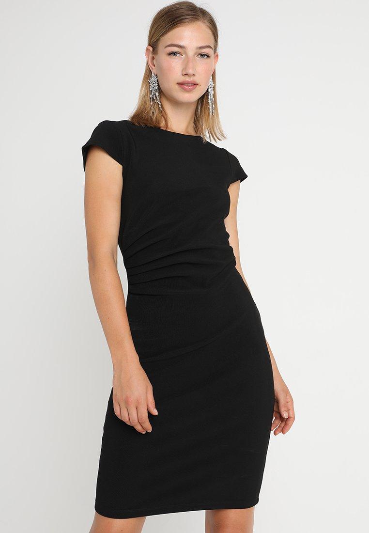 Vero Moda - VMJONIE CAP SLEEVE DRESS  - Robe fourreau - black