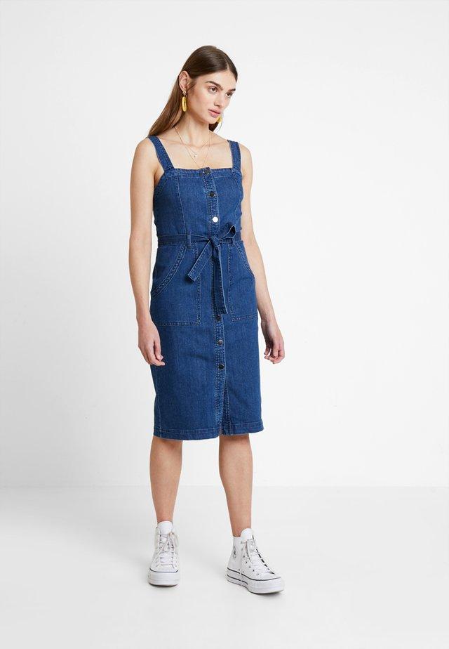 Korte jurk - medium blue denim