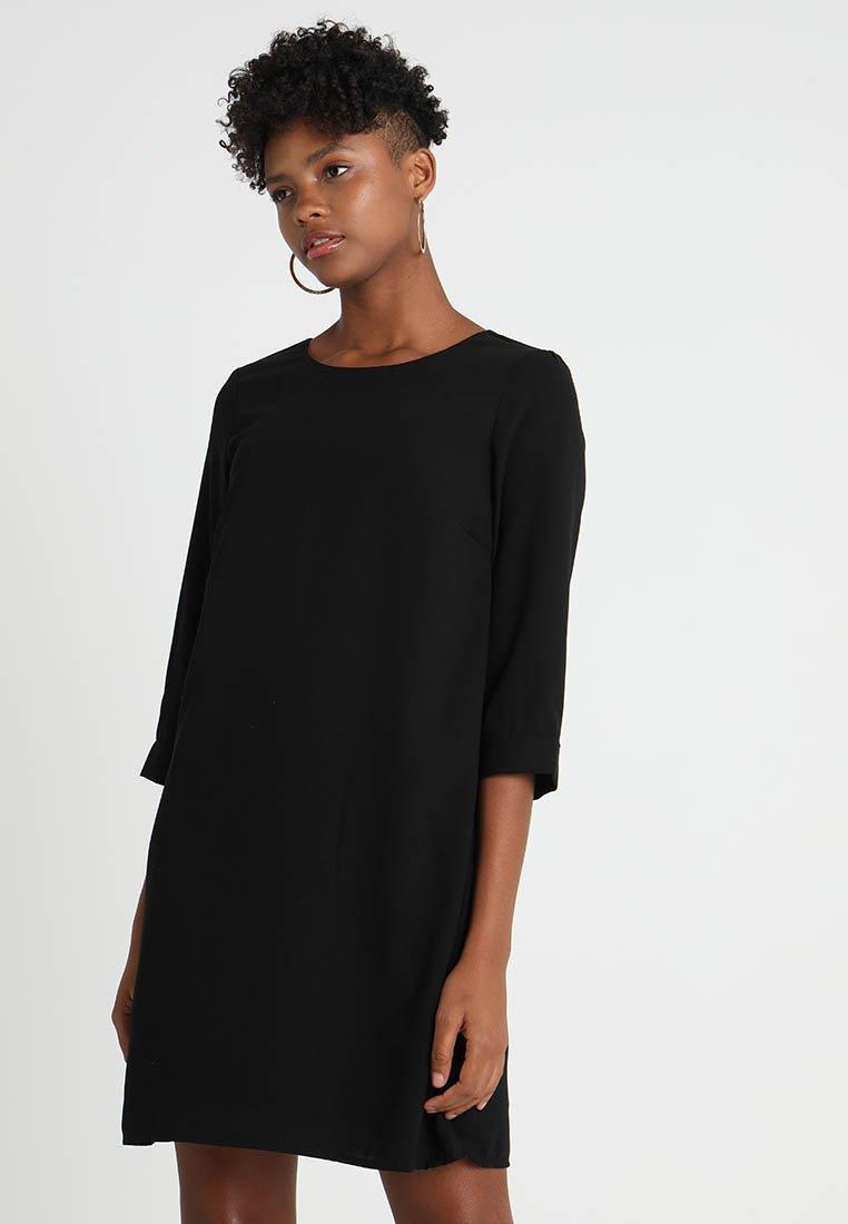 Vero Moda - VMGABBY 3/4 SHORT SOLID DRESS  - Freizeitkleid - black