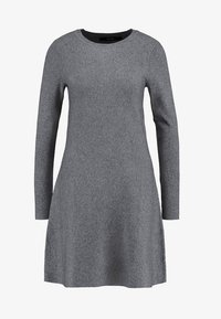 Vero Moda - VMNANCY DRESS - Neulemekko - medium grey melange - 4