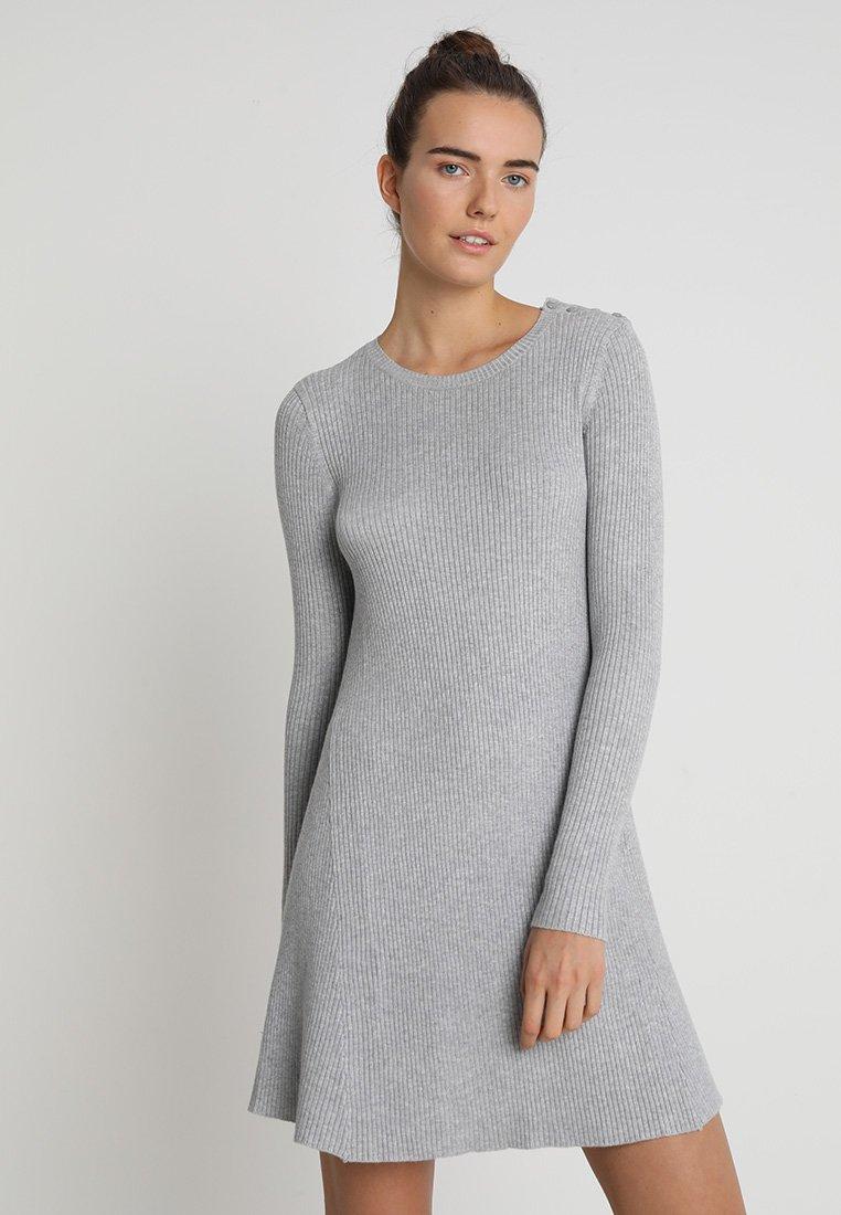 Vero Moda - VMGILO BUTTONSHOULDER A LINE - Jumper dress - light grey melange