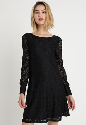 VMINGER BOATNECK DRESS - Day dress - black