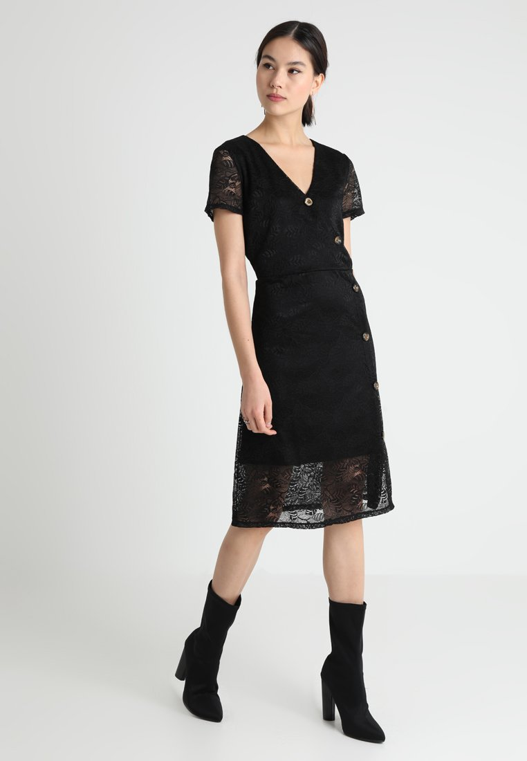 Vero Moda - VMLILY BUTTON DRESS - Vestido camisero - black