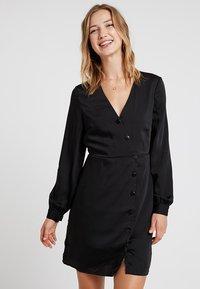 Vero Moda - VMBAYA SHORT DRESS - Shirt dress - black - 0