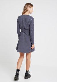 Vero Moda - VMSQUARE TIE DRESS  - Day dress - night sky - 2