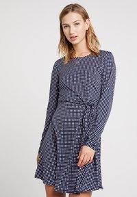 Vero Moda - VMSQUARE TIE DRESS  - Day dress - night sky - 0