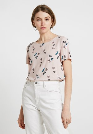 VMSIMPLY EASY - Print T-shirt - sepia rose