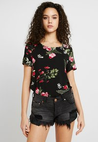 Vero Moda - VMSIMPLY EASY - Print T-shirt - black/red - 0