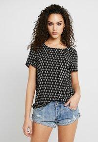 Vero Moda - VMSIMPLY EASY - Print T-shirt - black - 0