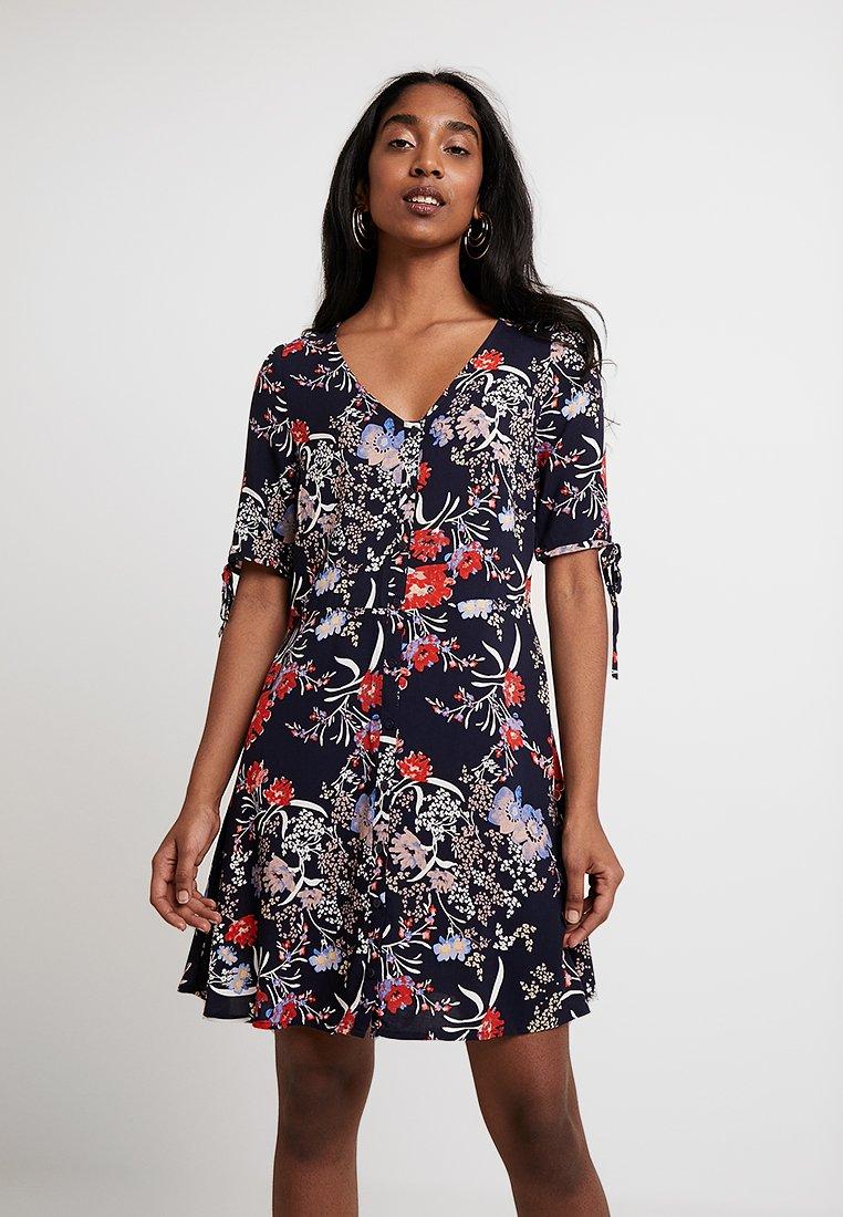 Vero Moda - VMSIMPLY BUTTON SHORT DRESS - Shirt dress - night sky