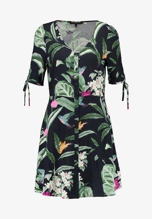 VMSIMPLY BUTTON SHORT DRESS - Košilové šaty - night sky