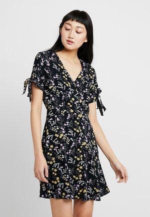 VMLOTUS SHORT DRESS - Abito a camicia - black