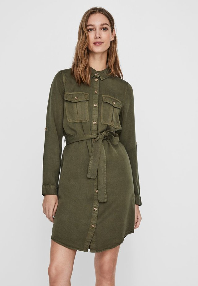 VMMIA LS REGULAR SHIRT DRESS GA - Jeanskleid - ivy green