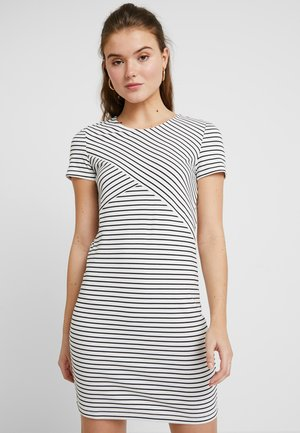 VMVIGGA SLIM SHORT DRESS - Kotelomekko - snow white/black