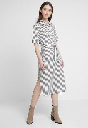 VMCASSIE CALF DRESS - Shirt dress - snow white/night sky