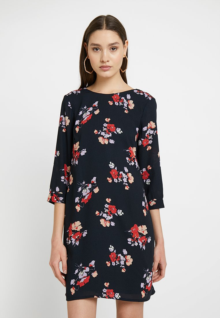 Vero Moda - VMGABBY 3/4 SHORT DRESS PRINTED - Korte jurk - night sky