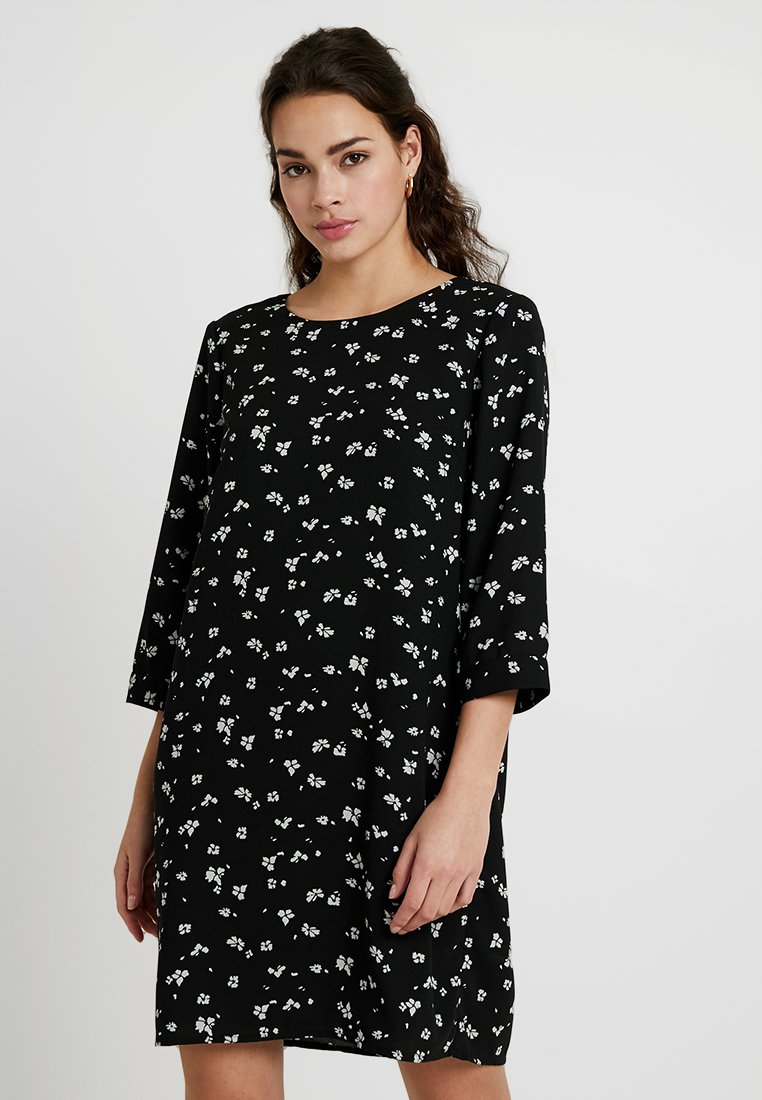 Vero Moda - VMGABBY 3/4 SHORT DRESS PRINTED - Korte jurk - black