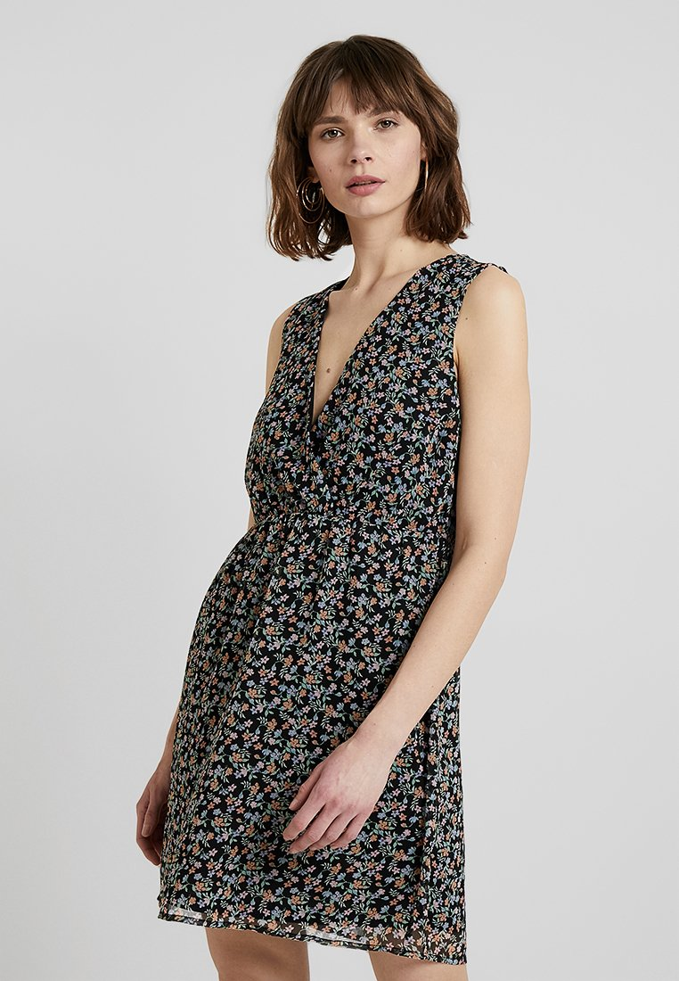 Vero Moda - VMFAY SHORT DRESS - Korte jurk - black/viola