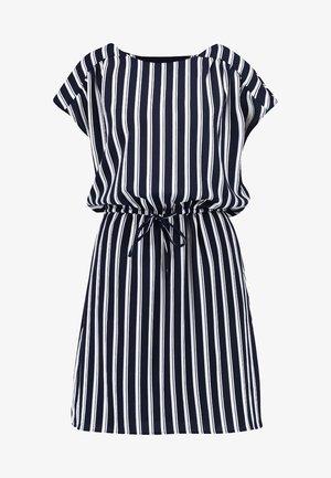 VMSASHA BALI DRESS - Denní šaty - navy blazer/snow white coco