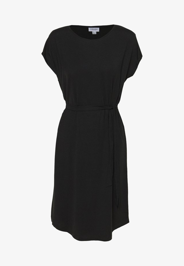 VMAVA PLAIN KNEE DRESS - Jerseyjurk - black