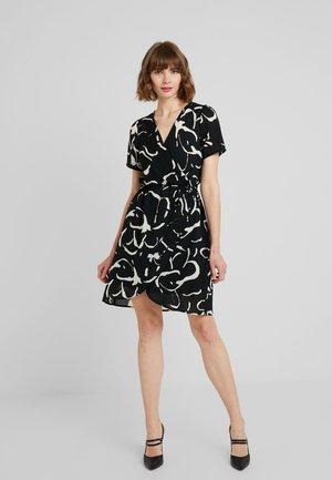 VMILONA WRAP DRESS  - Denní šaty - black/ilona