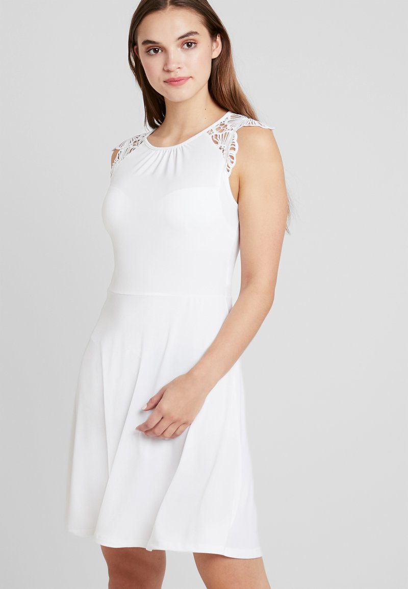Vero Moda - VMDONIKA DRESS - Jerseykleid - snow white