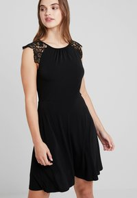 Vero Moda - VMDONIKA DRESS - Jersey dress - black - 0