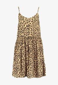 Vero Moda - VMLEA SHORT DRESS - Blousejurk - light brown - 3
