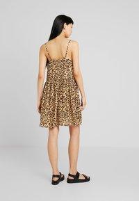 Vero Moda - VMLEA SHORT DRESS - Blousejurk - light brown - 2