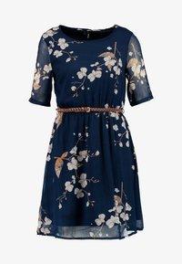 Vero Moda - VMCARINA BELT SHORT DRESS - Kjole - black iris/gabby - 4