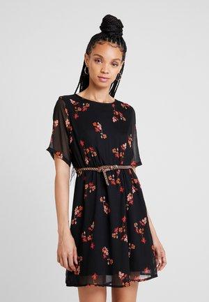 VMCARINA BELT SHORT DRESS - Vestito estivo - black
