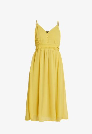 VMMARLYN SINGLET DRESS - Cocktailjurk - spicy mustard