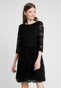 Vero Moda - VMALVIA SHORT DRESS - Vestito elegante - black - 0