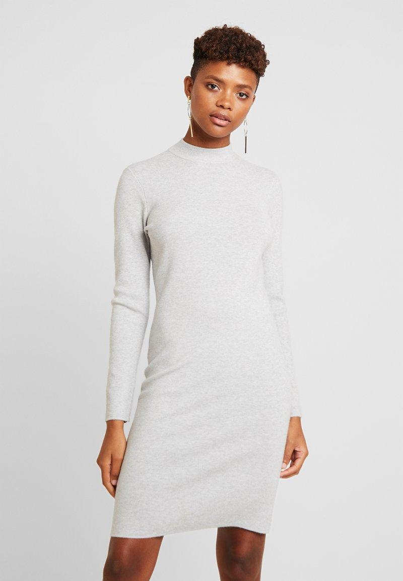 Vero Moda - VMFANCY NANCY HIGHNECK DRESS - Etuikjole - light grey melange