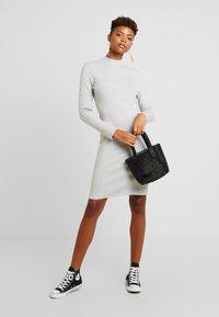 Vero Moda - VMFANCY NANCY HIGHNECK DRESS - Etuikjole - light grey melange - 1