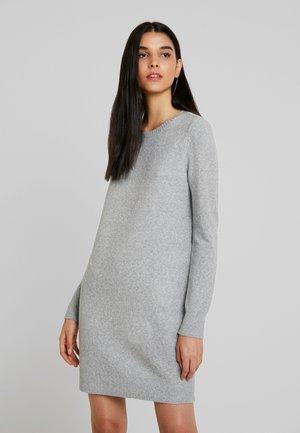 VMDOFFY  - Gebreide jurk - light grey melange