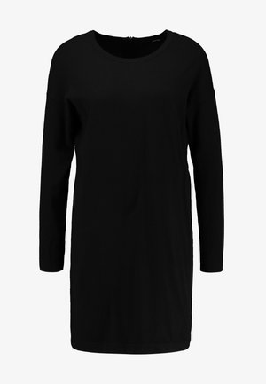VMHAPPY BASIC ZIPPER DRESS - Robe pull - black