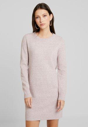 VMDOFFY O NECK DRESS - Pletené šaty - woodrose/melange