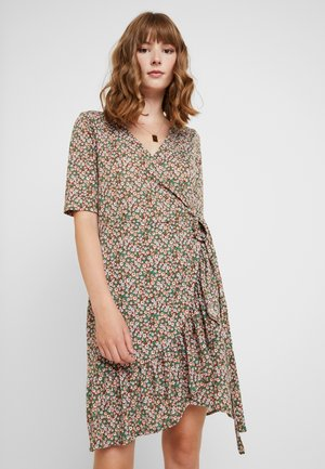 VMAMELIA WRAP DRESS - Vestito di maglina - tortoise shell