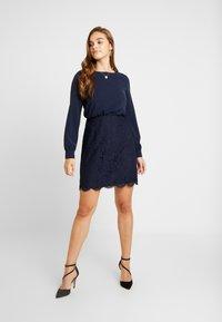 Vero Moda - VMELLIE SHORT DRESS - Juhlamekko - night sky - 2