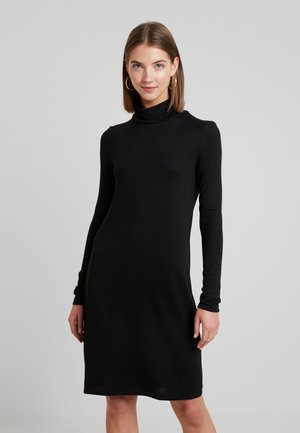 VMMALENA ROLLNECK SHORT DRESS - Strikkjoler - black