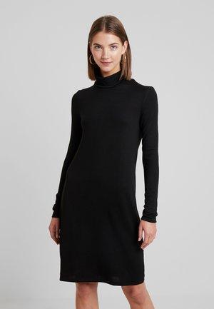 VMMALENA ROLLNECK SHORT DRESS - Abito in maglia - black