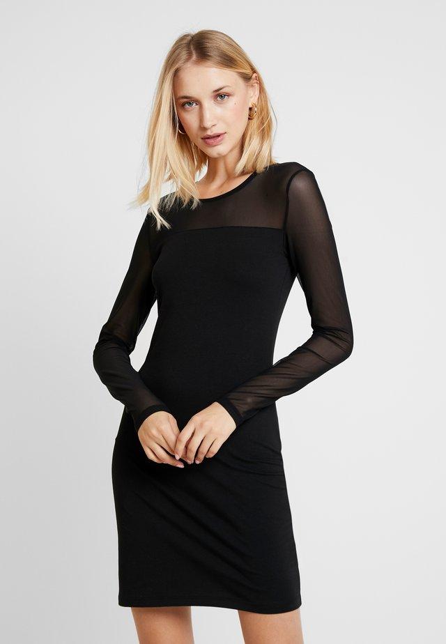 VMMAYAM MESH CUT SHORT  - Pouzdrové šaty - black
