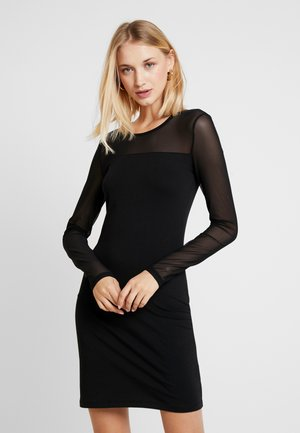 VMMAYAM CUT SHORT DRESS - Robe en jersey - black