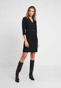 Vero Moda - VMERIN PINCEL DRESS - Day dress - black - 0